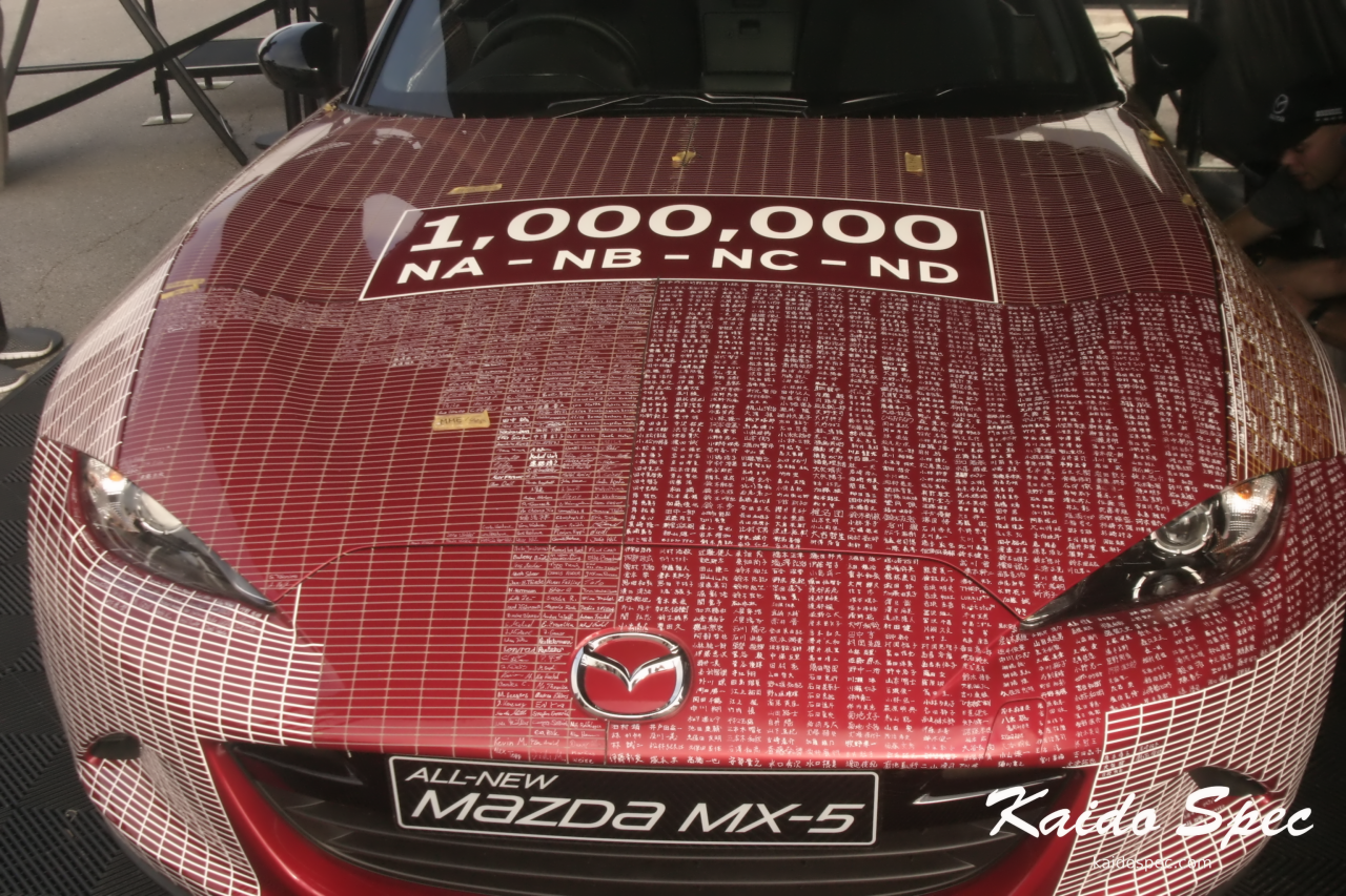 The hood is mostly covered in kanji from the lucky folks in Japan who got to sign it first.