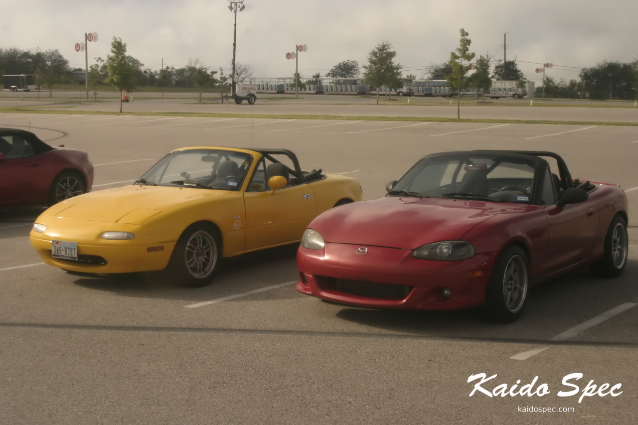 Beautiful examples of an NA and Mazdaspeed Miata.