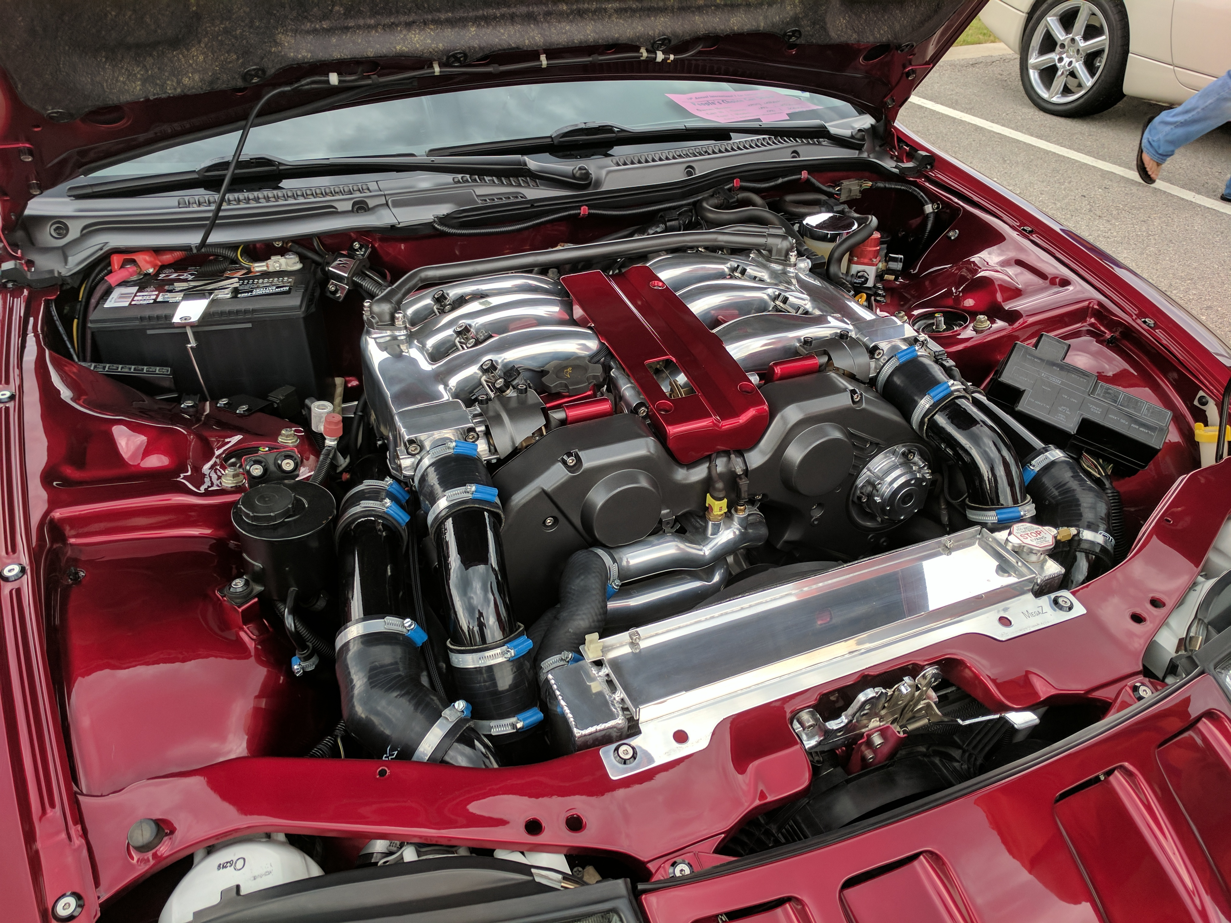 Z32's would win the engine bay competition any day