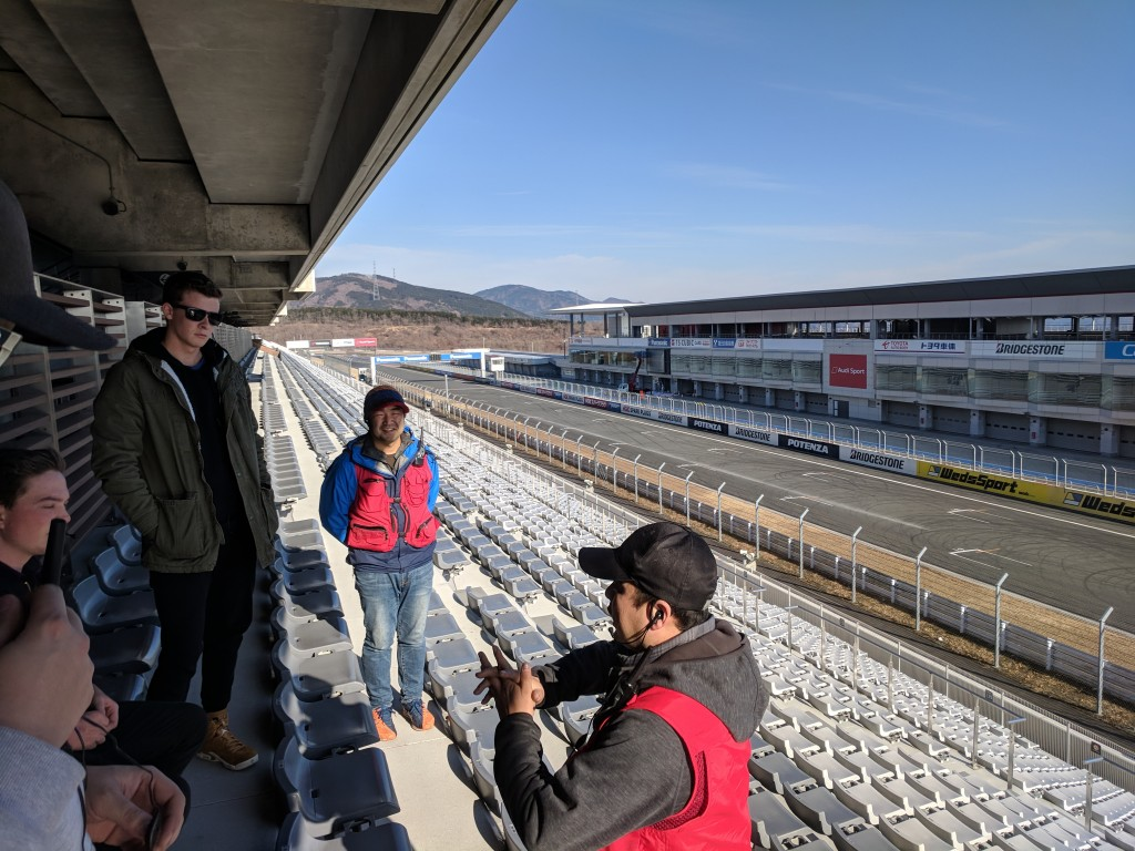 Our gracious guides dropping some knowledge about Fuji Speedway